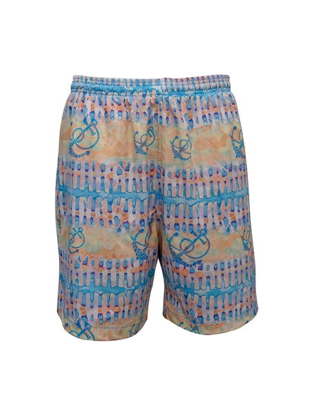 Men's Print Swim Trunk - Happy Day