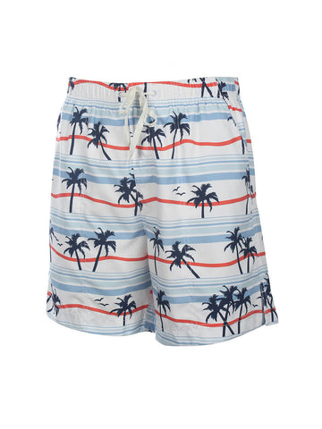 Men's Print Swim Trunk - Palm Breeze