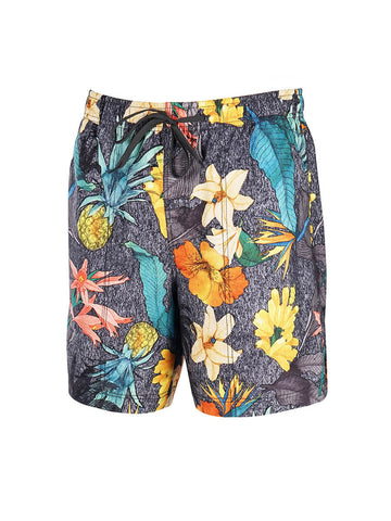Men's Print Swim Trunk - Island Garden