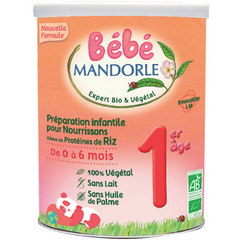 Organic Baby Shop Bebe Mandorle Infant formula stage 1 birth to 6 months Dairy free