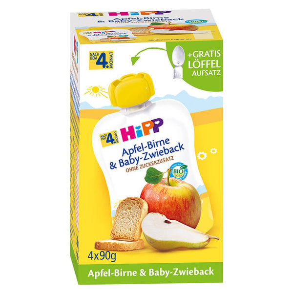 HiPP Fruit & Cereal Pouch Apple Pear & Baby Rusk