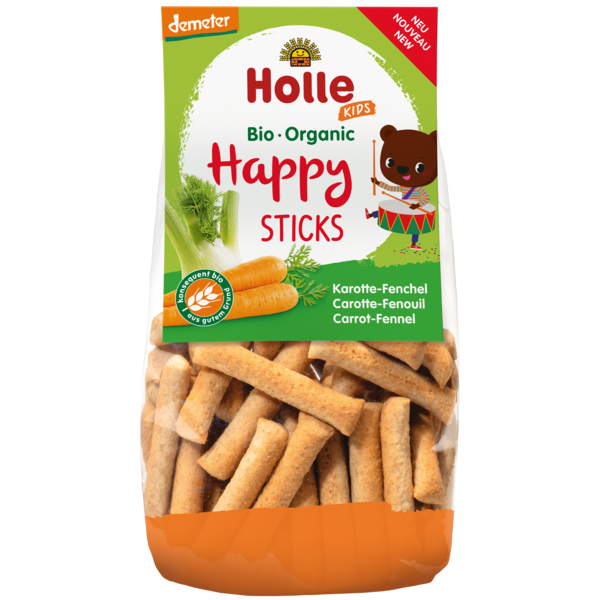 Holle Organic Carrot-Fennel Happy Sticks Snack
