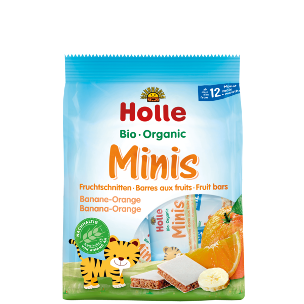 Holle Organic Mini Fruit Bars Banana- Orange