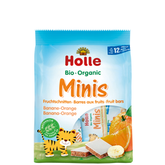 Holle Organic Mini Fruit Bars Banana-Orange