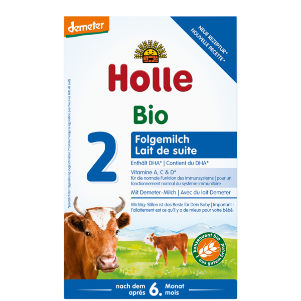 Holle Cow Organic Milk Formula Stage 2, 10 Boxes