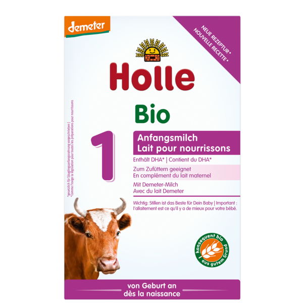 Holle Cow Organic Milk Formula Stage 1, 10 Boxes