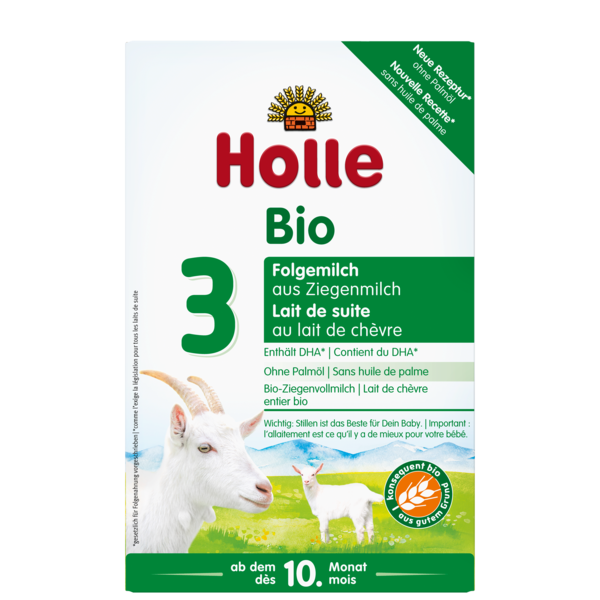 Holle Goat milk formula follow on stage 3 10 months on