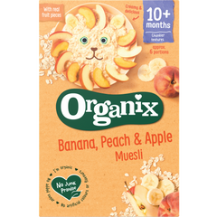 Organix Banana, Peach & Apple Muesli porridge 10 months onwards