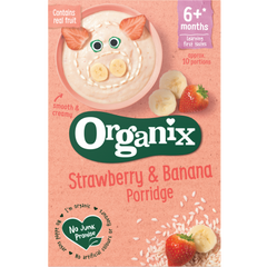New Organix Strawberry & Banana Porridge 120g 6+ months