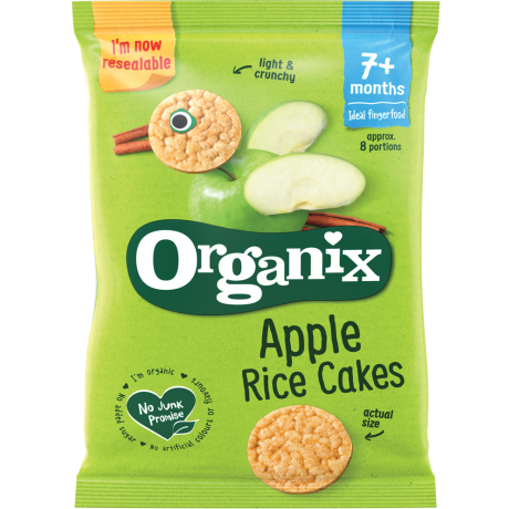Organix Apple Rice Cakes 7+ months old Finger food