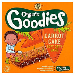 Organix Goodies Carrot Cake Soft Oaty Bars 12 months 6 bars