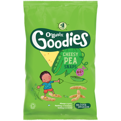 Organix Goodies Cheesy Pea Snaps 12 months Snacks  4 pack