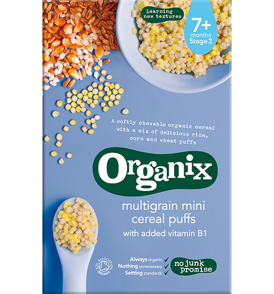 Organix Multigrain Mini Cereal Puffs