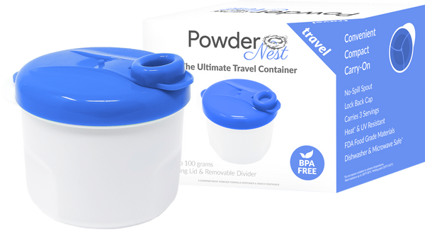 Powder Nest Baby Formula Travel Container - Blue