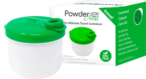 Powder Nest Baby Formula Travel Container - Green