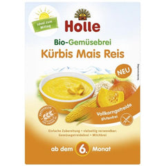 Holle Organic Vegetable Cereal with Pumpkin, Maize, and Rice