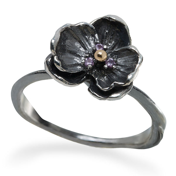 Orchid Mini Ring - Pink Sapphire
