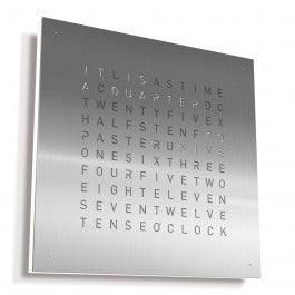 Qlocktwo Classic - Stainless Steel