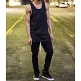 The Longline Essential Tank Top - Black - DVCN Maison