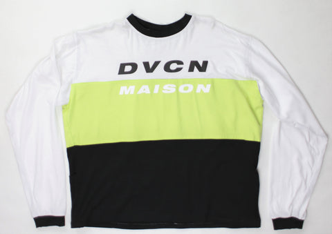 Motocross Jersey Long Sleeve Shirt - White / Lime / Black - DVCN Maison