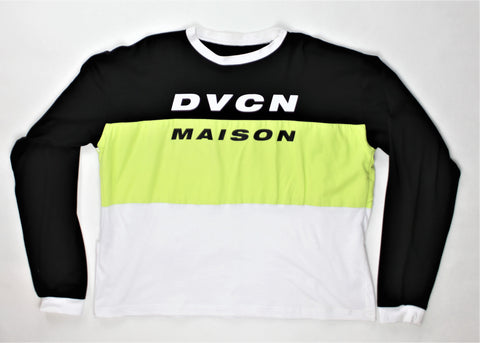 Motocross Jersey Long Sleeve Shirt - Black / Lime / White - DVCN Maison