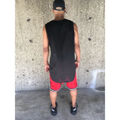The Black Mesh Hi Low Tank - DVCN Maison