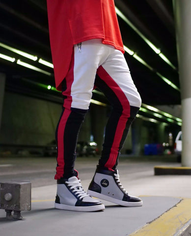 The Red Mesh Hi Low Tank - DVCN Maison