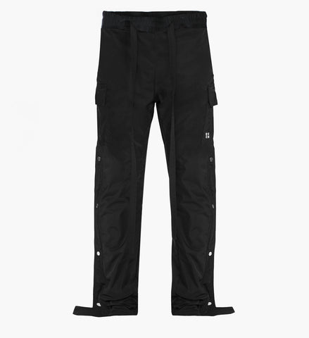 Snap Side Cargo Pants - Black - DVCN Maison