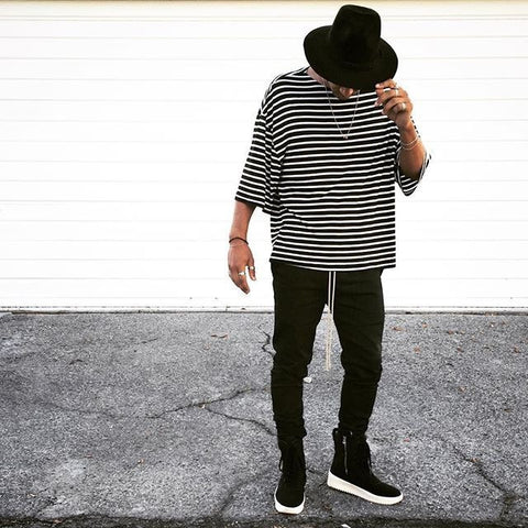 Black & White Striped Crew - DVCN Maison
