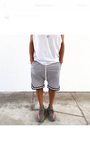 The Lightweight Mesh Ball Shorts w/ Zipper Pockets - Grey - DVCN Maison