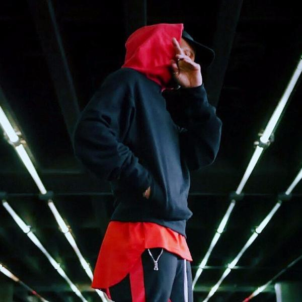 - The Red Hood - Black French Terry Cotton Hoodie - DVCN Maison