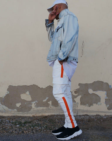 Caution Fatigues Off-white Cargo Track Pants - DVCN Maison