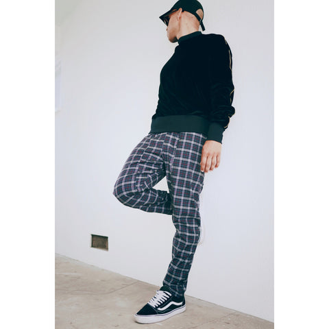Austin Plaid Trousers - Cropped/Regular - DVCN Maison