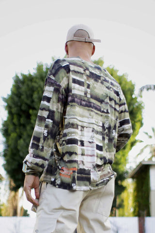 Monet Brush Stroke Camo Long Sleeve Shirt - DVCN Maison