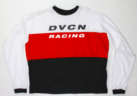 Motocross Jersey Long Sleeve Shirt - White / Red / Black - DVCN Maison