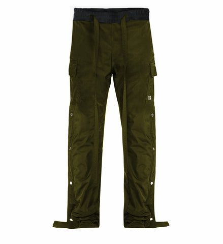 Snap Side Cargo Pants - Olive - DVCN Maison