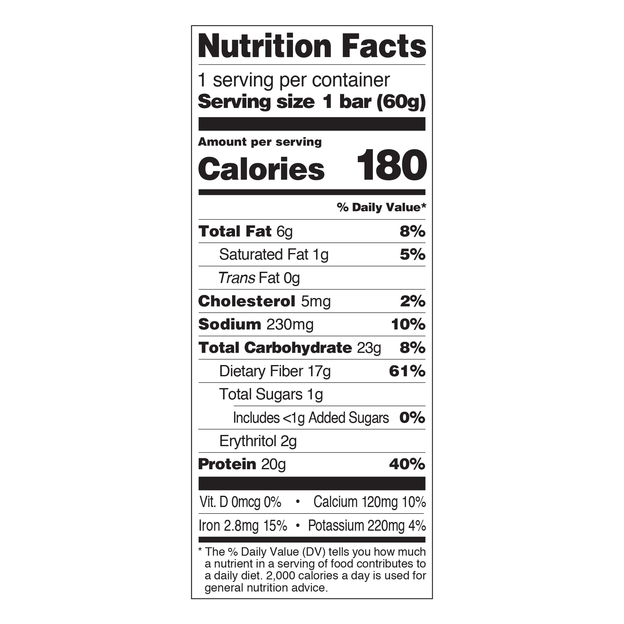 Chocolate Brownie Nutrition