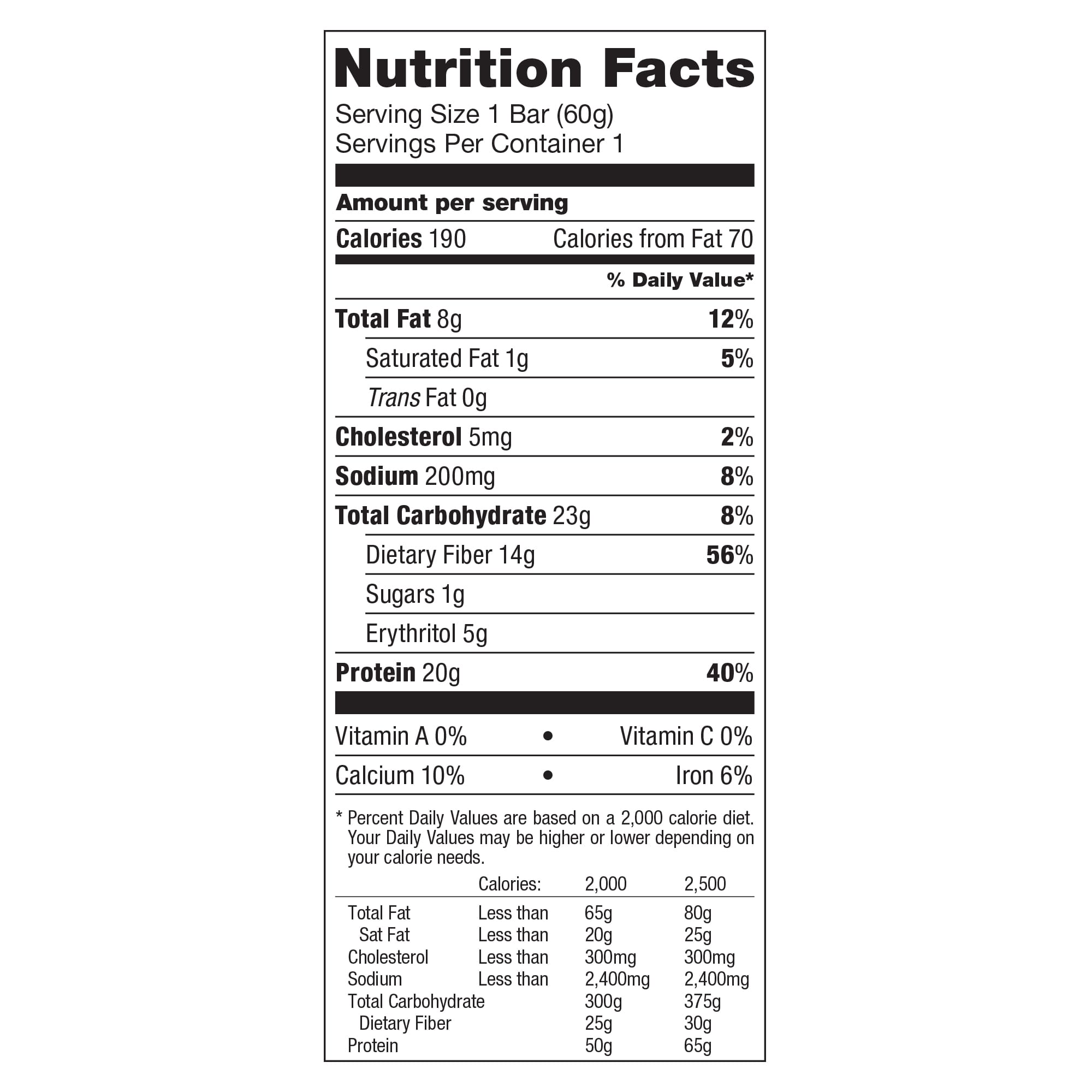 Chocolate Hazelnut Nutrition