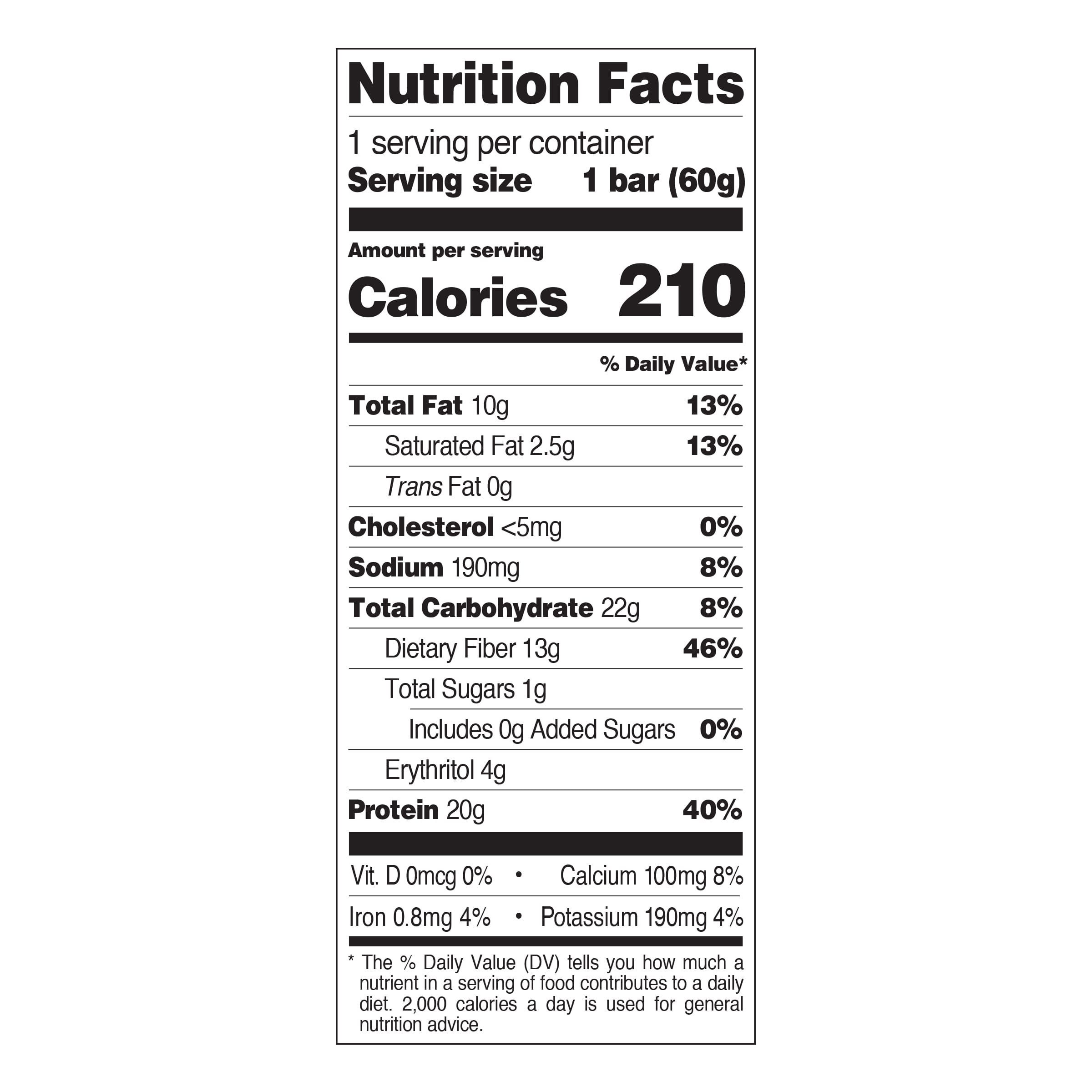Chocolate Peanut Butter Nutrition