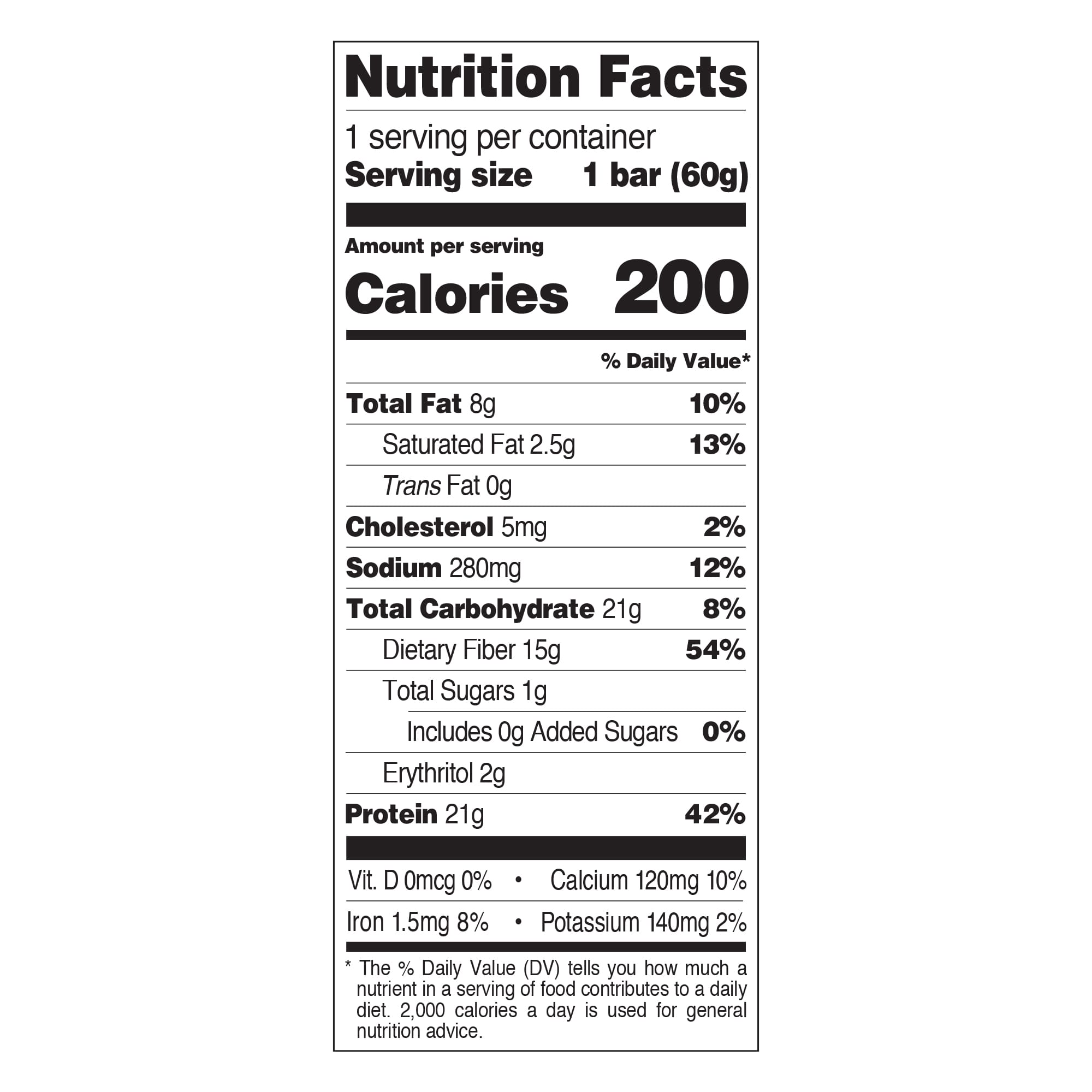 Cookies and Cream Nutrition