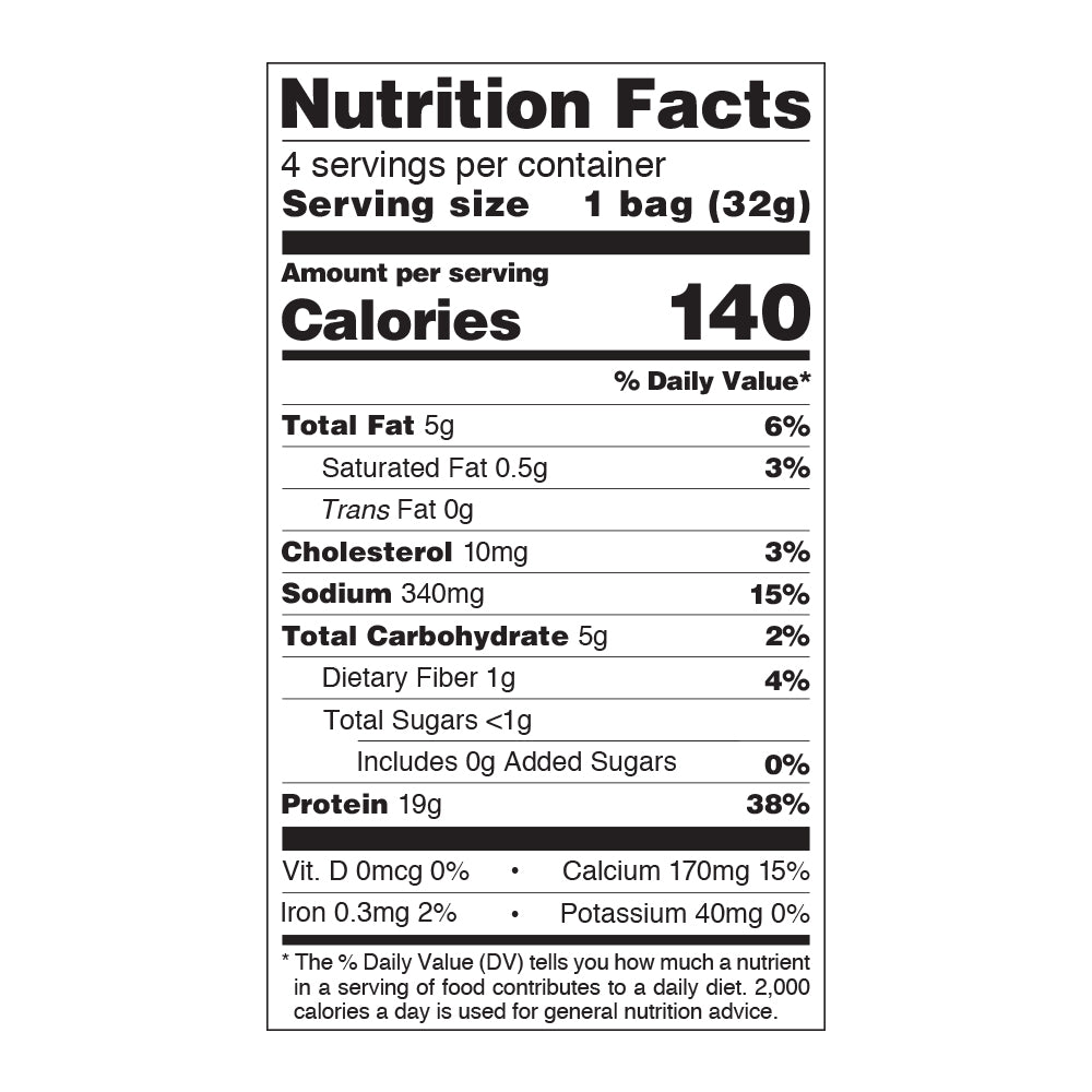 Loaded Taco Protein Chips Nutrition