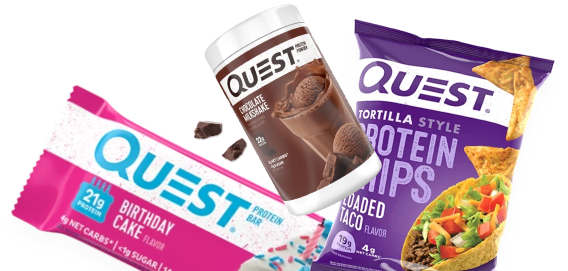 Quest Shake, Cookies and Chips