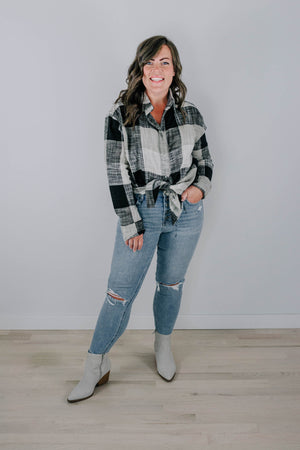 Lighthouse Side Slit Maxi- BLACK