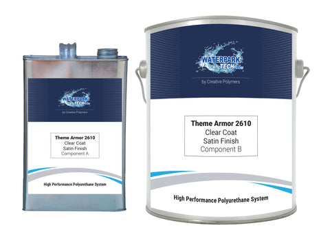 Theme Armor Clear Coat 2610 Satin Finish - pool paint renovation kit