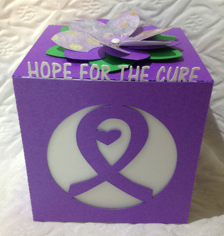 Relay For Life Gift LED Flameless Candle Luminary - Hope For The Cure (QTY of 10)