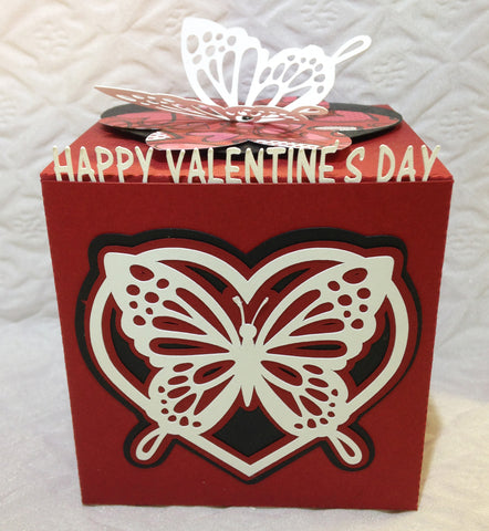 Butterfly Valentine Greeting Cube