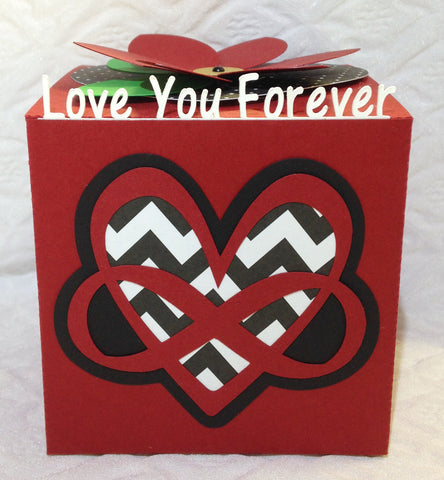 Infinity Valentine Greeting Cubes
