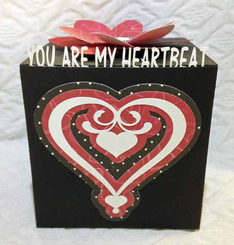 Open Heart Valentine Greeting Cube