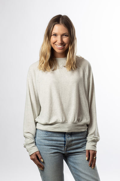 Shrunken Sweatshirt - Heather Gray Terry Tri-Blend