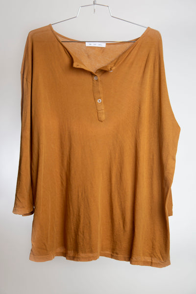 OVERSIZED HENLEY - SPICED GINGER